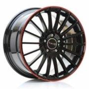 Cerchione Avus AC-M03 modello Nero bordo Rosso (Red Line Series)